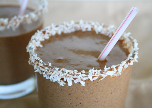 Chocolate Coconut Protein Smoothie 02