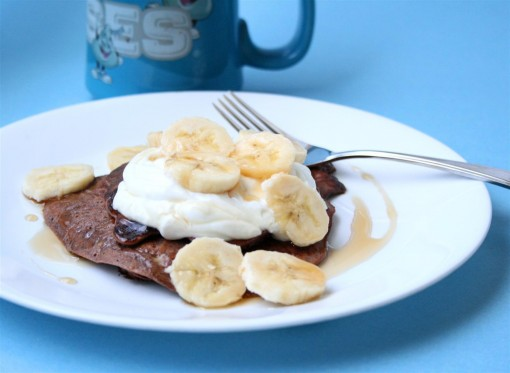 Chocolate Banana Protein Pancake 01