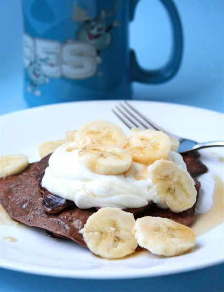 Chocolate Banana Protein Pancake 02