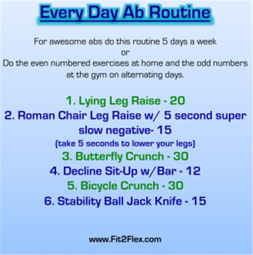 Every Day Ab Routine 01