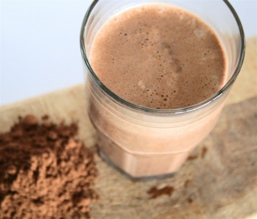 Dark Chocolate Protein Shake 01