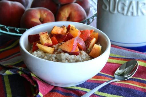 Peach Protein Oatmeal 01