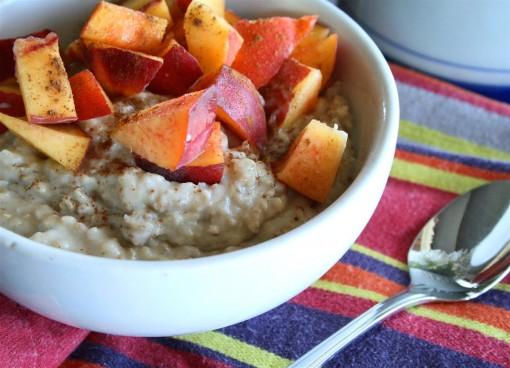 Peach Protein Oatmeal 02