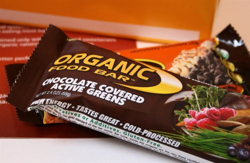 Dark Chocolate Greens Bar by Organic Bar