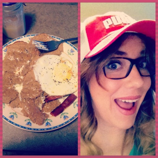 Protein pancakes and I love my Puma hat