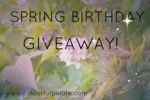 Spring Birthday Giveaway