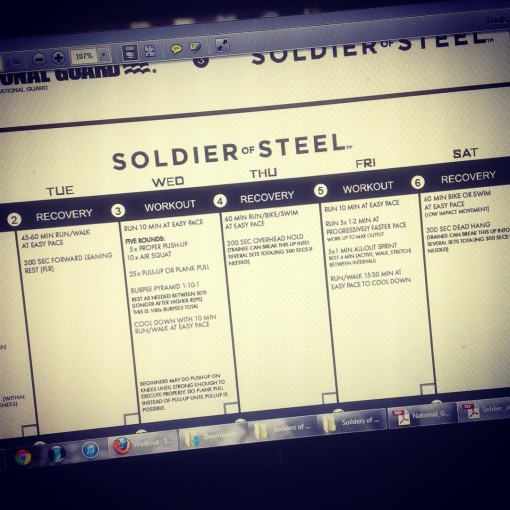 Soldiers of Steel Workout 1