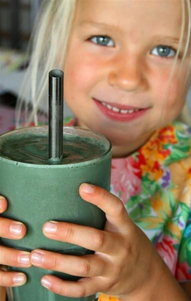 Kids love spirulina too