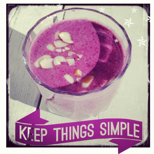 Keep Things Simple and Make a Smoothie