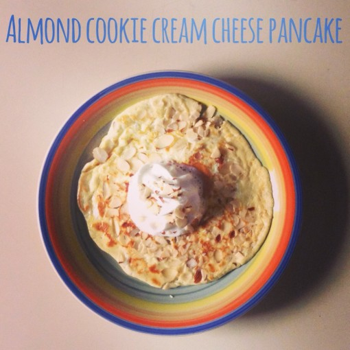 Almond Cookie Cream Cheese Pancake