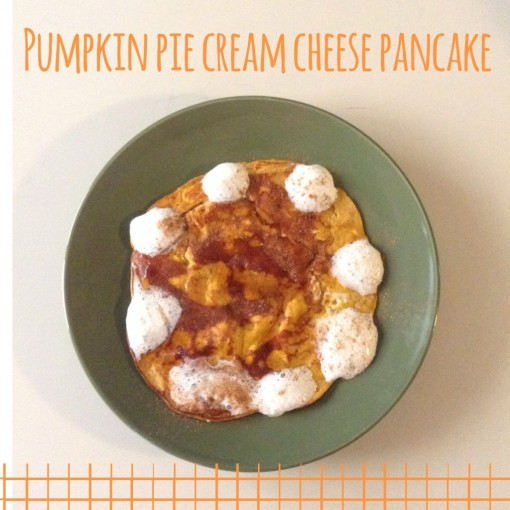 Pumpkin Pie Cream Cheese Pancake