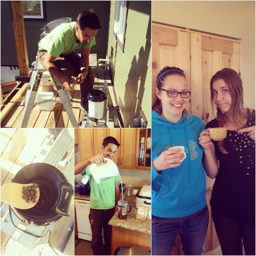 Roasting coffee in a popcorn maker