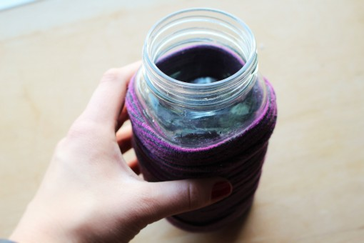 Hipster mason jar covers or cozies