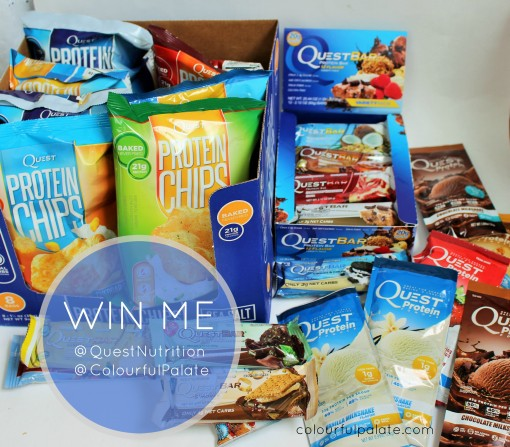 Win all of this @questnutrition goodness from @colourfulpalate! Protein chips, protein bars, and protein powder!