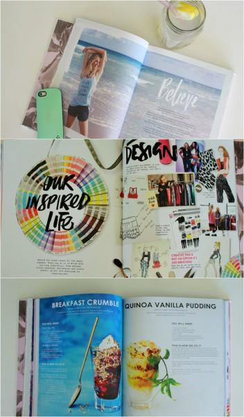 Sneak peek into the Lorna Jane INSPIRED book