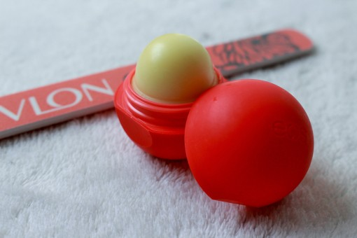 Eos lipbalm and revlon nailfiles