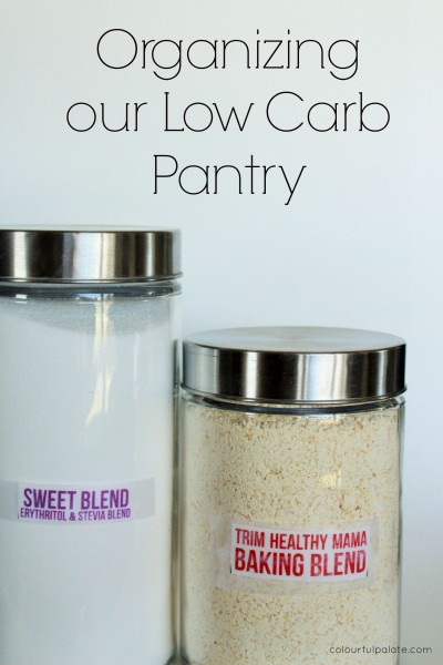 Organize your Low Carb Pantry