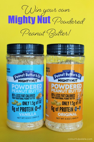 Enter to win your own Mighty Nut Powdered Peanut Butter by Peanut Butter and Co!