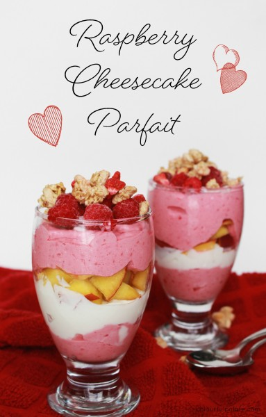 Raspberry Cheesecake Parfait for a Sugar-Free Valentines Dessert (or breakfast!)