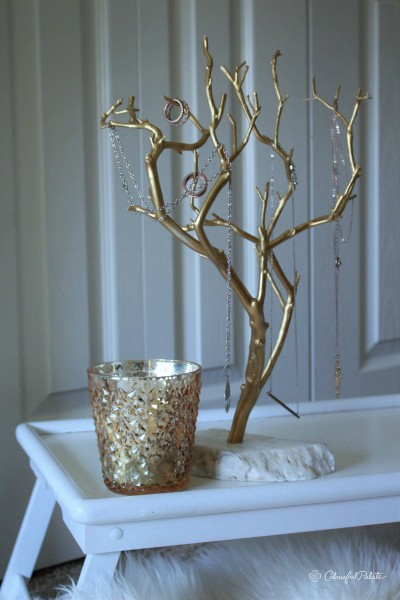 Gilded Gold Jewlery Tree from Uncommon GOods